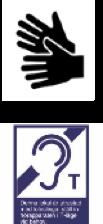 Symboler för teckenspråk och teleslinga